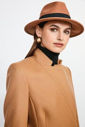 Karen Millen Fedora Wool Hat