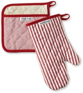 Williams-Sonoma Williams Sonoma Bay Stripe Mitt & Potholder Set, Claret