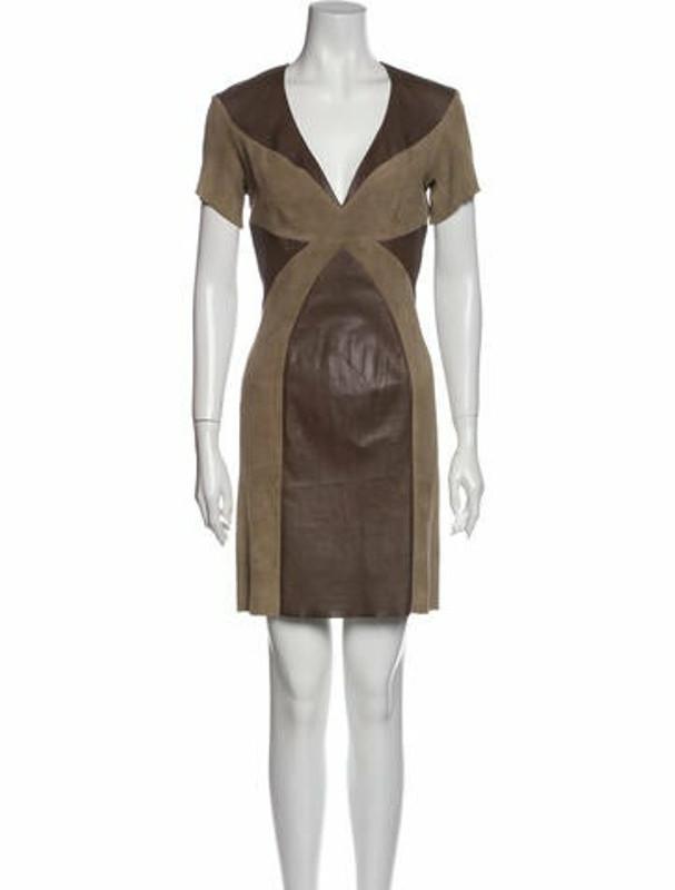Thumbnail for your product : Jitrois Lamb Leather Mini Dress