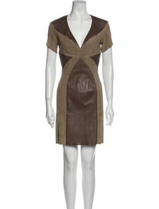 Jitrois Lamb Leather Mini Dress
