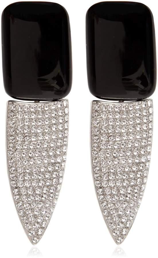Saint Laurent Crystals & Resin Clip-On Earrings
