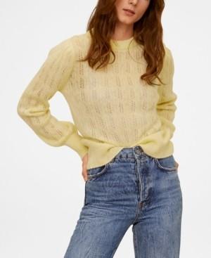 MANGO Open Work Detail Sweater