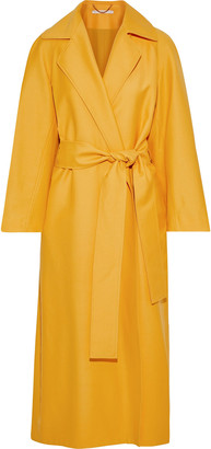 Emilia Wickstead Leia Belted Wool-gabardine Coat