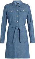 A.P.C. Dolly cotton-chambray dress