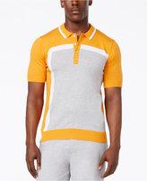 Sean John Men's Intarsia Colorblocked Sweater Polo