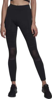 Urban Classics Urban Classic Women's Ladies Tech Mesh Biker Leggings Black 00007 10 (Size: S)