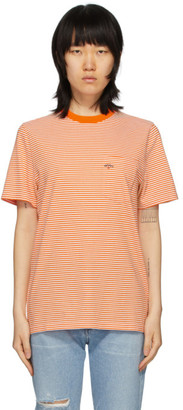 Noah NYC Orange Stripe Pocket T-Shirt