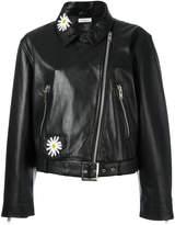 Natasha Zinko daisy embellished biker jacket