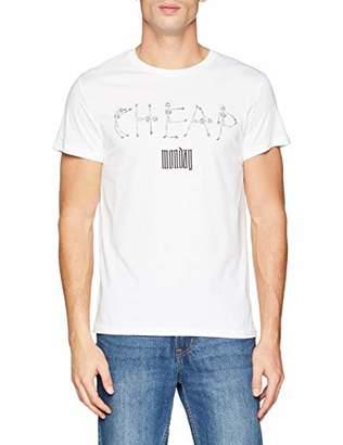 Cheap Monday Men's Standard tee Skeleton Logo T-Shirt, White, X-Small (Size:)