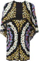 MSGM floral print cape dress - women - Silk - 42