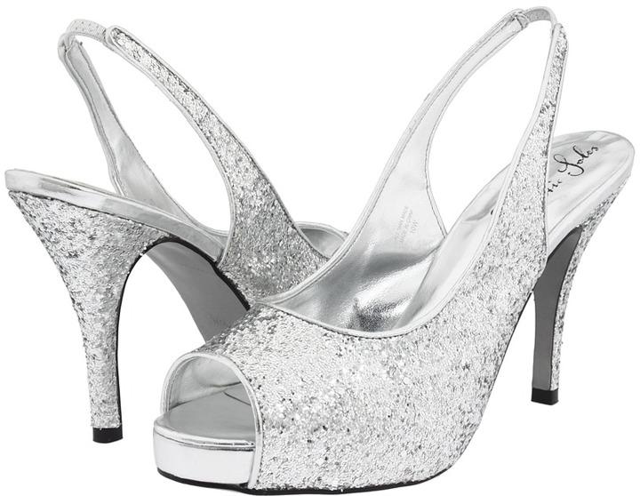 Romantic Soles Dasha Slingback (Silver Glitter) - Footwear