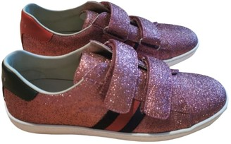 Gucci Ace Pink Glitter Trainers