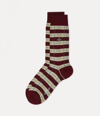 Vivienne Westwood Tartan Socks Wine