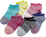 Gold Toe Girls 6 Pair No Show Socks-Big Kid