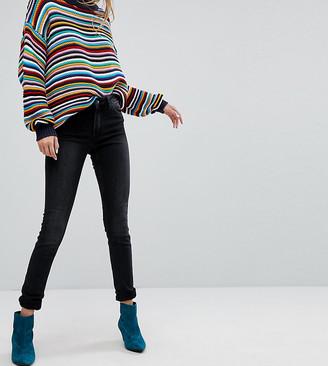 Monki Mocki slim mid waist jeans in washed black