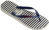 Havaianas Nautical Stripe Flip Flops, Blue/white