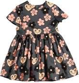 Mini Rodini Flowers Organic Cotton Poplin Dress