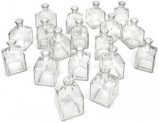 Serene Spaces Living Glass Bottle Bud Vases, Set of 48