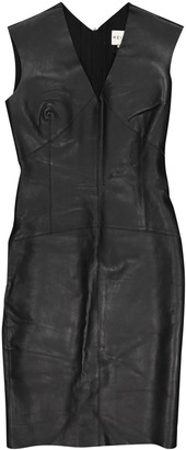 Reiss Black Leather Dresses