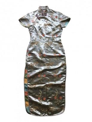 Non Signã© / Unsigned Silver Silk Dresses