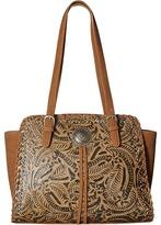 American West Trinity Trail Zip Top Tote Tote Handbags