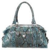 Lambertson Truex Python Shoulder Bag