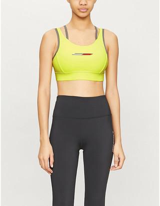 Tommy Sport Double Strap stretch-jersey sports bra