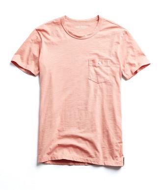 Todd Snyder Made in L.A. Slub Jersey Pocket T-Shirt in Fresh Peach