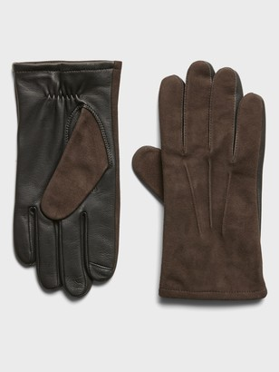 Banana Republic Suede & Leather Gloves