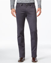 Vince Camuto Men's Charcoal Gray Stretch-Fabric Pants