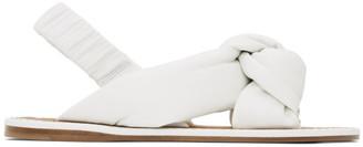Miu Miu White Knot Strap Slingback Sandals