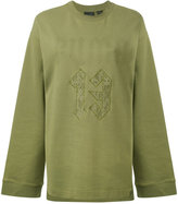Fenty X Puma - long sleeved graphic sweatshirt - women - Cotton/Nylon - S