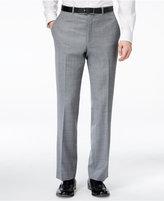 Kenneth Cole New York Grey Sharkskin Slim-Fit Pants