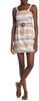 Planet Gold Sleeveless Striped Mini Dress