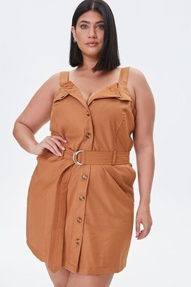 Forever 21 Plus Size Button-Front Twill Dress
