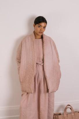 THE REGULAR - Quilt Dress Shell Pink Garment Dyed Linen - XS/S
