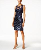 Connected Crisscross Sequined Sheath Dress