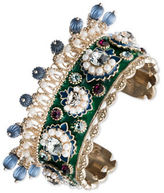 Marchesa Goldtone White Metal Cuff Bracelet