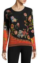 Etro Floral Silk & Cashmere Pullover