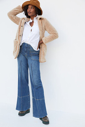 Pilcro And The Letterpress Pilcro Ultra High-Rise Seamed Wide-Leg Jeans By in Blue Size 24
