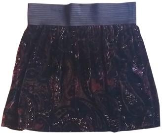 Sandro Burgundy Velvet Skirt for Women