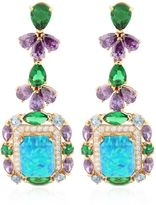 Opals Deco Gold Earrings