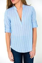 Honey Punch Blue Stripe Top