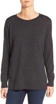 Eileen Fisher Women's Merino Wool Jersey Bateau Neck Sweater