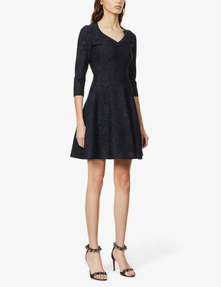 Azzedine Alaia Metallic stretch-knit mini dress