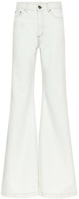 Matthew Adams Dolan High-rise wide-leg jeans