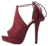 Charlotte Russe Tassel Platform Dress Sandals