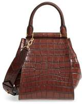 Max Mara Small Anita Croc-Embossed Leather Satchel