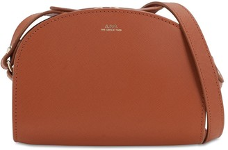 A.P.C. Mini Demi Lune Saffiano Leather Bag