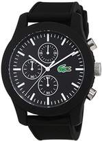 Lacoste Mens Quartz Watch, Chronograph Display and Silicone Strap 2010821